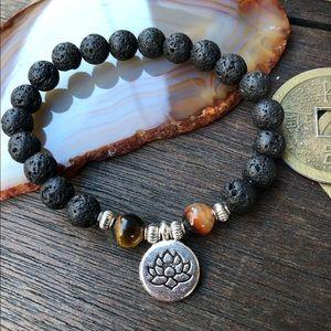 Jewelry - 🆕🆕🆕✨LAVA STONE +TIGER EYE DIFFUSER BRACELET✨